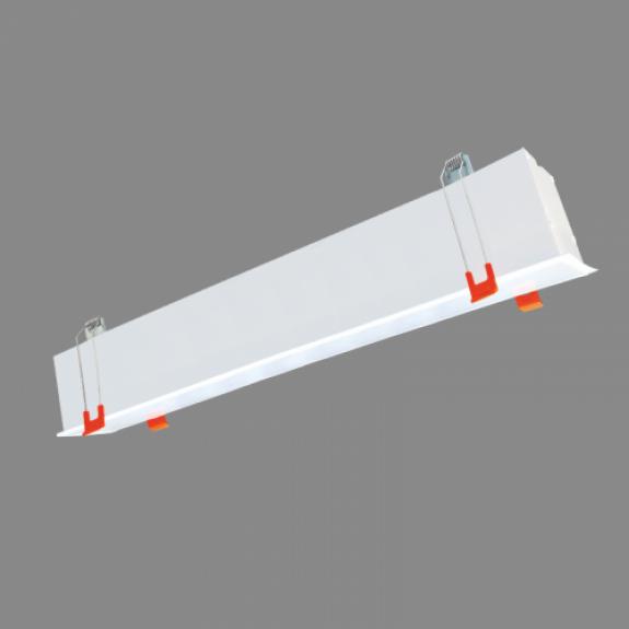 80W iebūvējams lineārs LED Balts gaismeklis ESNA CCT Avārijas