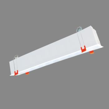 80W iebūvējams lineārs LED Melns gaismeklis ESNA CCT Avārijas