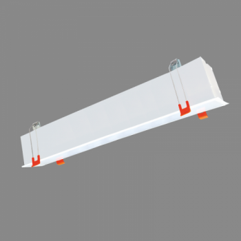 40W iebūvējams lineārs LED Pelēks gaismeklis ESNA CCT