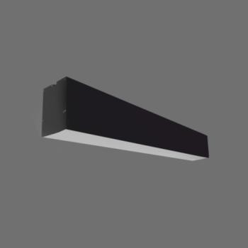 20W Iekarināms lineārs LED Melns gaismeklis LIMAN CCT TRIAC