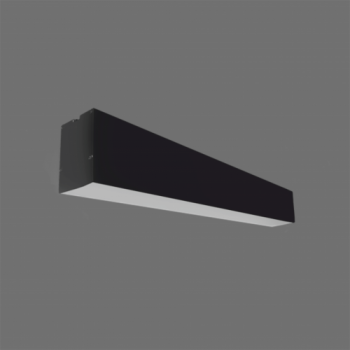 40W Iekarināms lineārs LED Melns gaismeklis LIMAN CCT