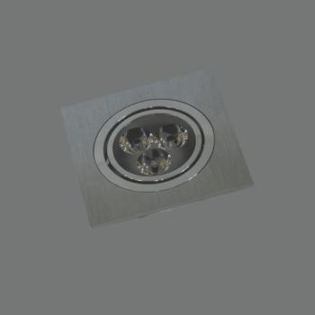 LED Spot Gaismeklis Kvadrāts Iebūvējams Grozāms 5W 3000K 110X110x56mm LENS