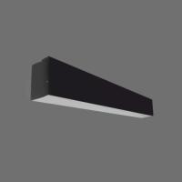 LED lineārais gaismeklis Iekarināms Melns 72W 4000K 2400x55x75mm LIMAN