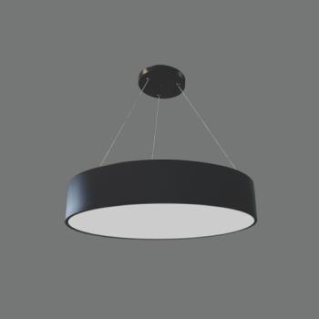 LED griestu lampa 40W Melna AR DIMMĒŠANU 3000K-4000K Ø500x90mm MORA