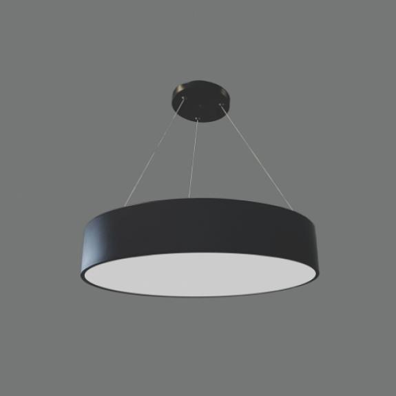 LED griestu lampa 60W Melna AR DIMMĒŠANU 3000K-4000K Ø600x90mm MORA