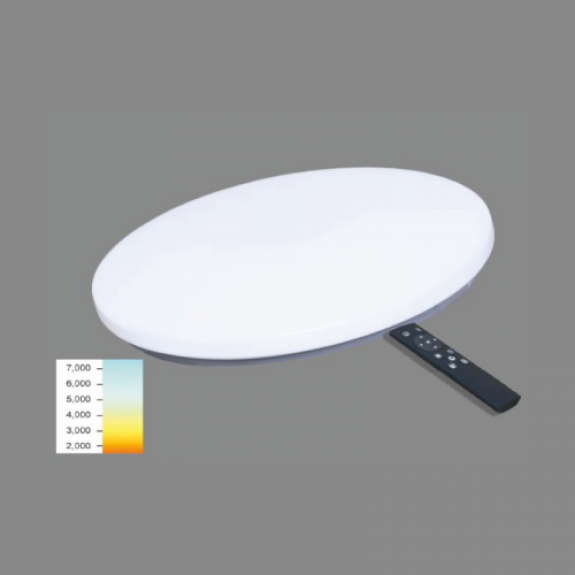 LED griestu lamapa 24W Plafonveida 3000K līdz 6500K Ø380x70mm SOPOT