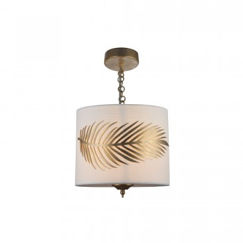 Griestu lampa Maytoni House baltā krāsā ar zelta detaļām