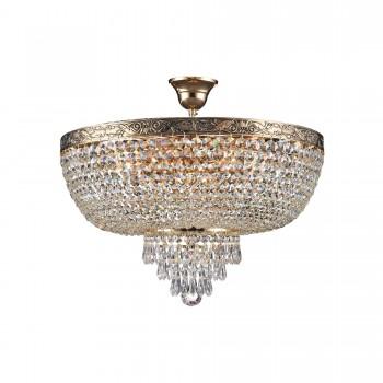 Griestu lustra Maytoni Royal Classic zelta krāsā ar kristāla dekoriem