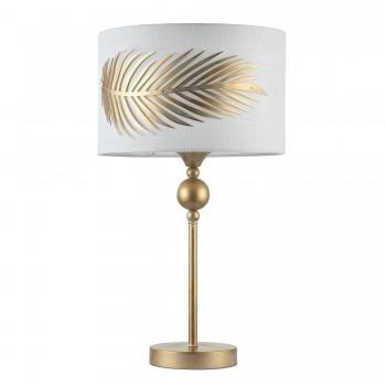 Galda lampa Maytoni House zelta krāsā ar baltu abažūru