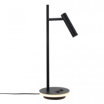 Galda lampa Maytoni Table & Floor melnā krāsā ar iestrādātām LED diodēm