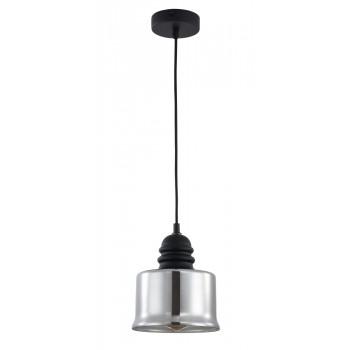 Griestu lampa Maytoni Pendant melnā krāsā ar dūmakainu kupolu