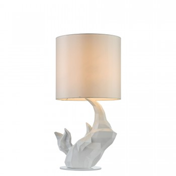 Galda lampa Maytoni Table & Floor ar degunradža figūru baltā krāsā