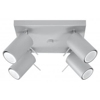 Ceiling lamp RING 4 grey